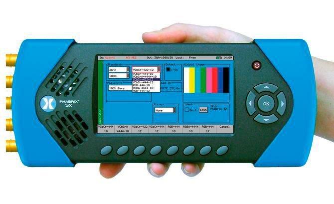 Portable Signal Generator : Phabrix sxa portable audio video test signal generator