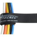 TecNec by Cord-Lox Rivet Series 1 Inch x 12 Inch Hook & Loop Closed Loop Cable Tie Wrap 10 Pack Black
