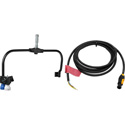 Arri L0.0036138 Orbiter LED Light with Pole-Operated Yoke and Mains Cable - Bare Ends - Black