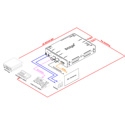 Digital Forecast Bridge1000 SHA 3G-SDI to Analog Composite & HDMI Converter with Analog Audio & AES/EBU Out