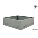 Mystery FMCA3300 Flat Trim Solid Brass Floor Box with Cable Slots