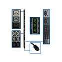Tripp Lite PDU3MV6H50 12.6kW 3-Phase Metered PDU 208V Outlets Hubbell 50A CS8365C 6 Foot Cord Vertical TAA