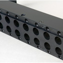 Canare VJ2-V20-1U-BLK - Unloaded Standard Size Video Patch Panel