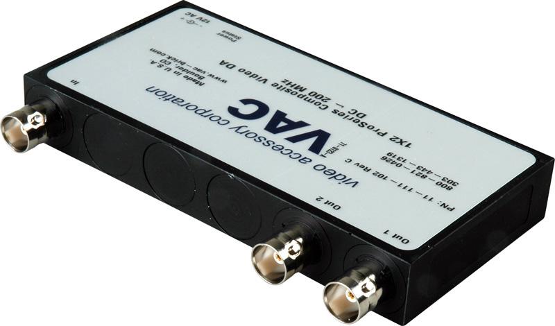 VAC 11-111-102 Composite Video 1x2 Distribution Amplifier 11-111-102