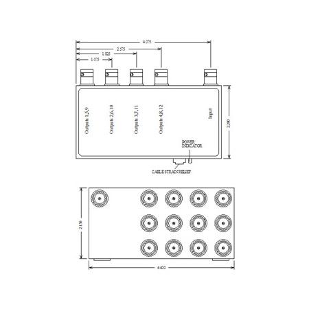 VAC 11-111-112 -- 1x12 Composite Video Distribution Amplifier 11-111-112
