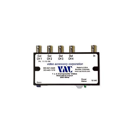 VAC 11-113-104 1x4 Composite Video Distribution Amplifier 11-113-104