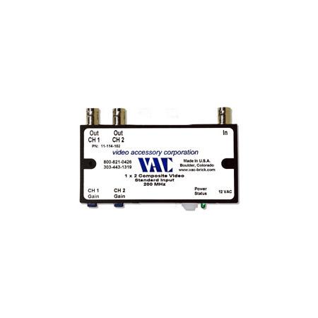 VAC 11-114-102 1x2 Composite Video DA 11-114-102
