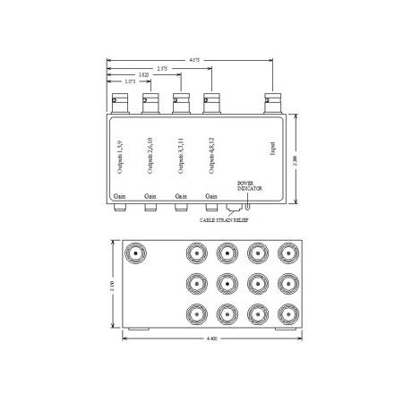 VAC 11-114-112 1x12 Composite Video DA 11-114-112