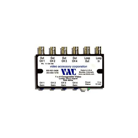 VAC 11-134-104 Composite Video DA 4 Output 1 Layer 11-134-104