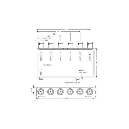 VAC 11-143-104 1x4 Composite Video DA 11-143-104