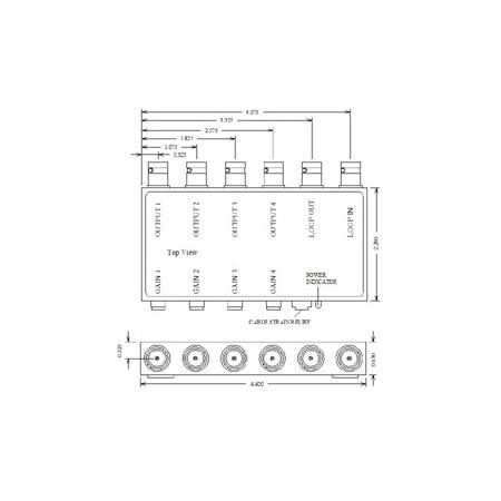 VAC 11-144-104 1x4 Composite Video DA 11-144-104