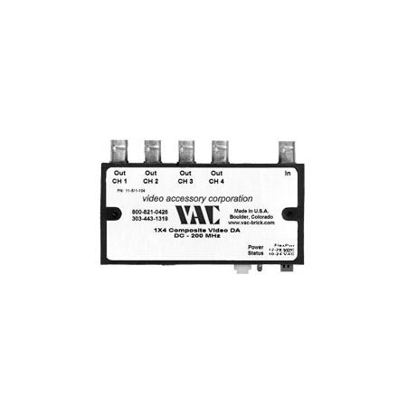 VAC 11-511-104 1x4 Composite Video Distribution Amplifier 11-511-104