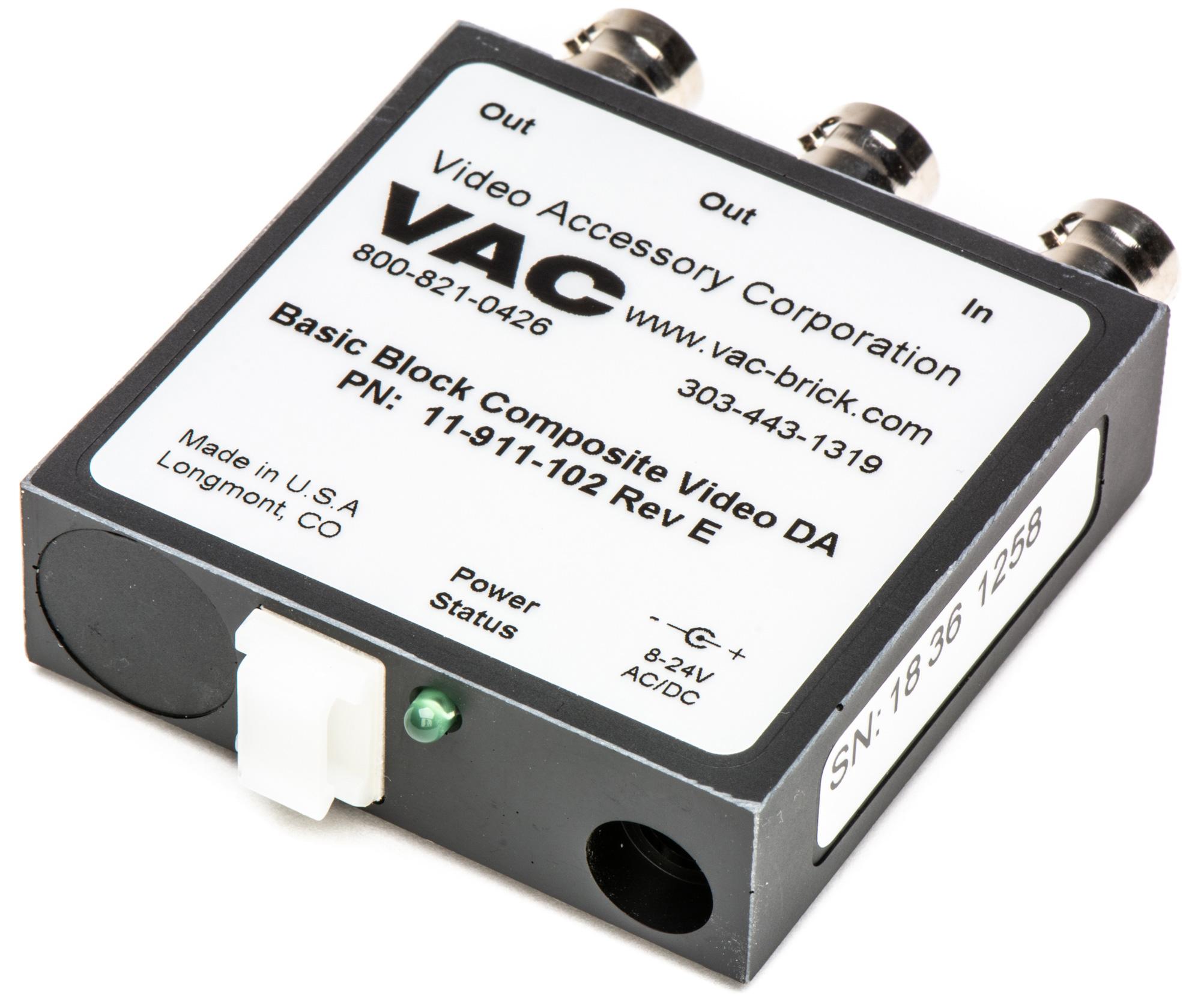 VAC 11-911-102 1x2 Composit Video DA 11-911-102