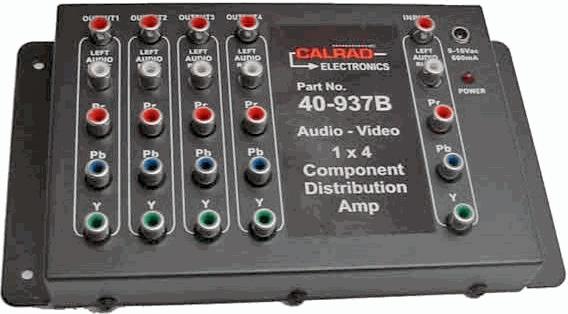 Calrad 40-937B 1x4 Component Distribution Amp 40-937B