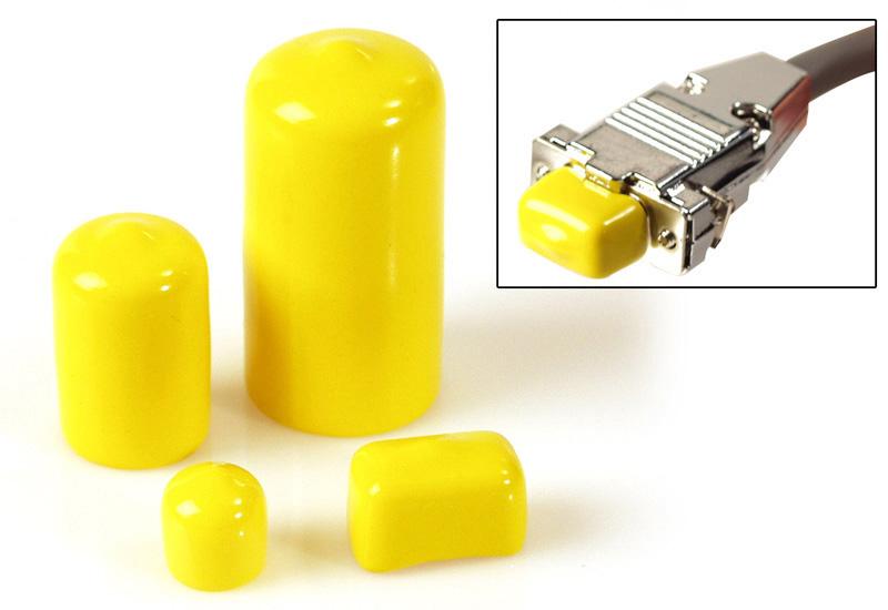 100pk of Yellow Plastic Caps for BNC Male Connectors BNCCAP-100