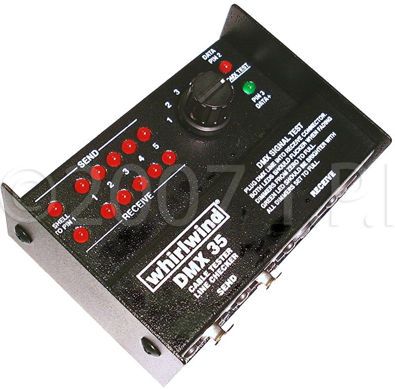 Whirlwind DMX35T 3-Pin and 5-Pin DMX Cable and Data Tester DMX35T