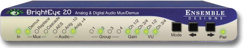 Ensemble Designs BrightEye 20 Analog Audio/AES Embedder or Disembedder