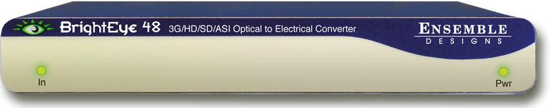 Ensemble Designs BrightEye 48 3G/HD/SD/ASI Optical to Electrical Conve
