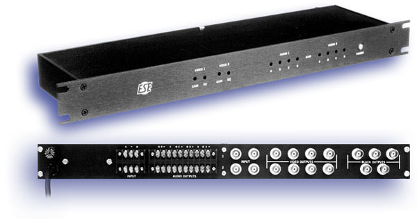 Dual 1 X 4 Audio/Video DA With 5 Black Burst Sync Outputs ES 2940