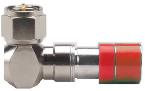 ICM FS59URA RG59/59 Quad F Right Angle Connector (Red) 25pk FS59URA