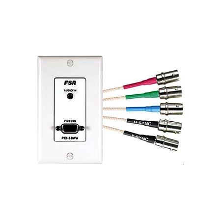 FSR HD15 Wall Plate/Interface Black FSR-PCI5B