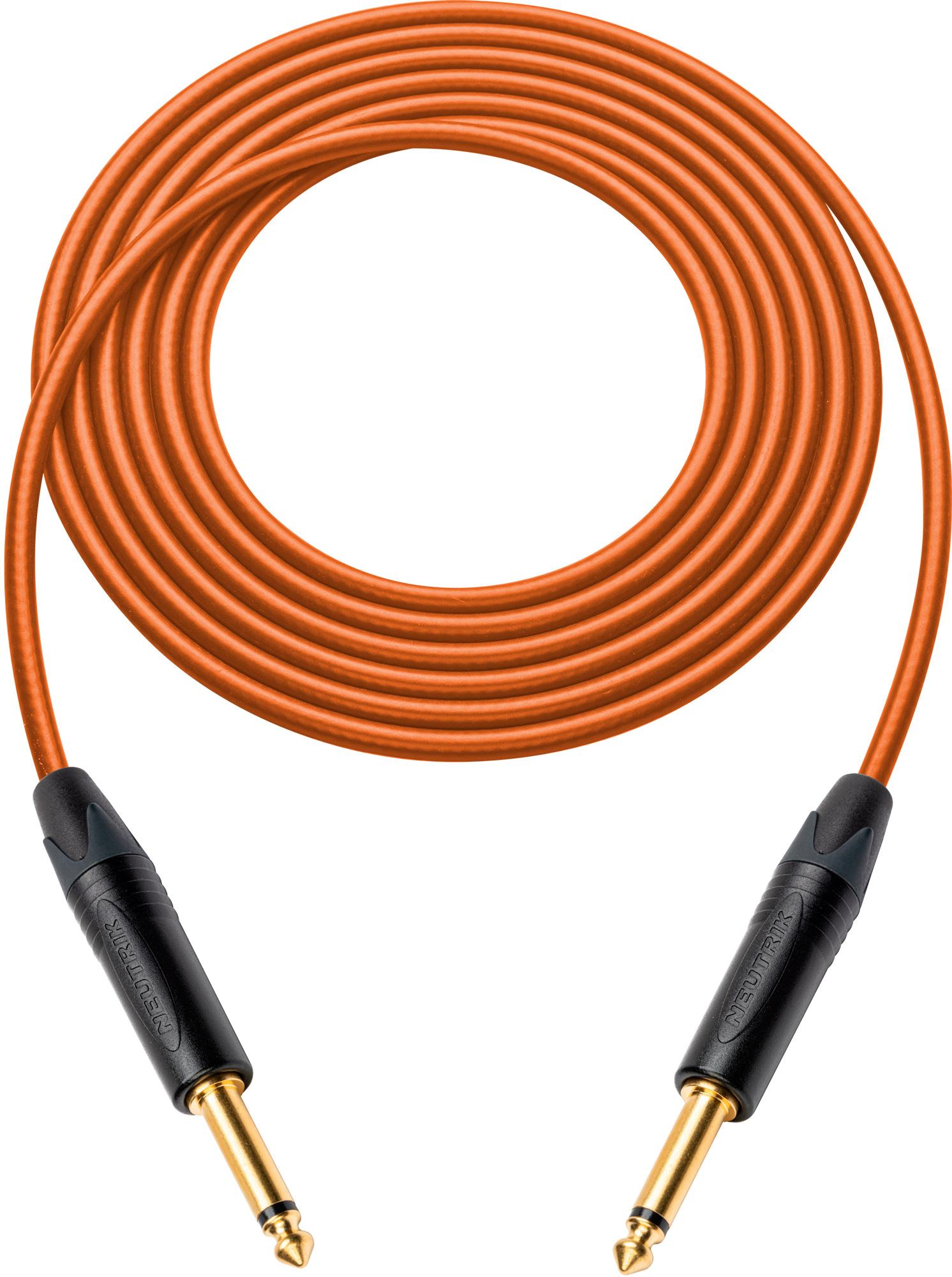 Canare GS-6 Instrument Cable w/Neutrik XS 1/4 Phone Plugs 50 Ft Orange
