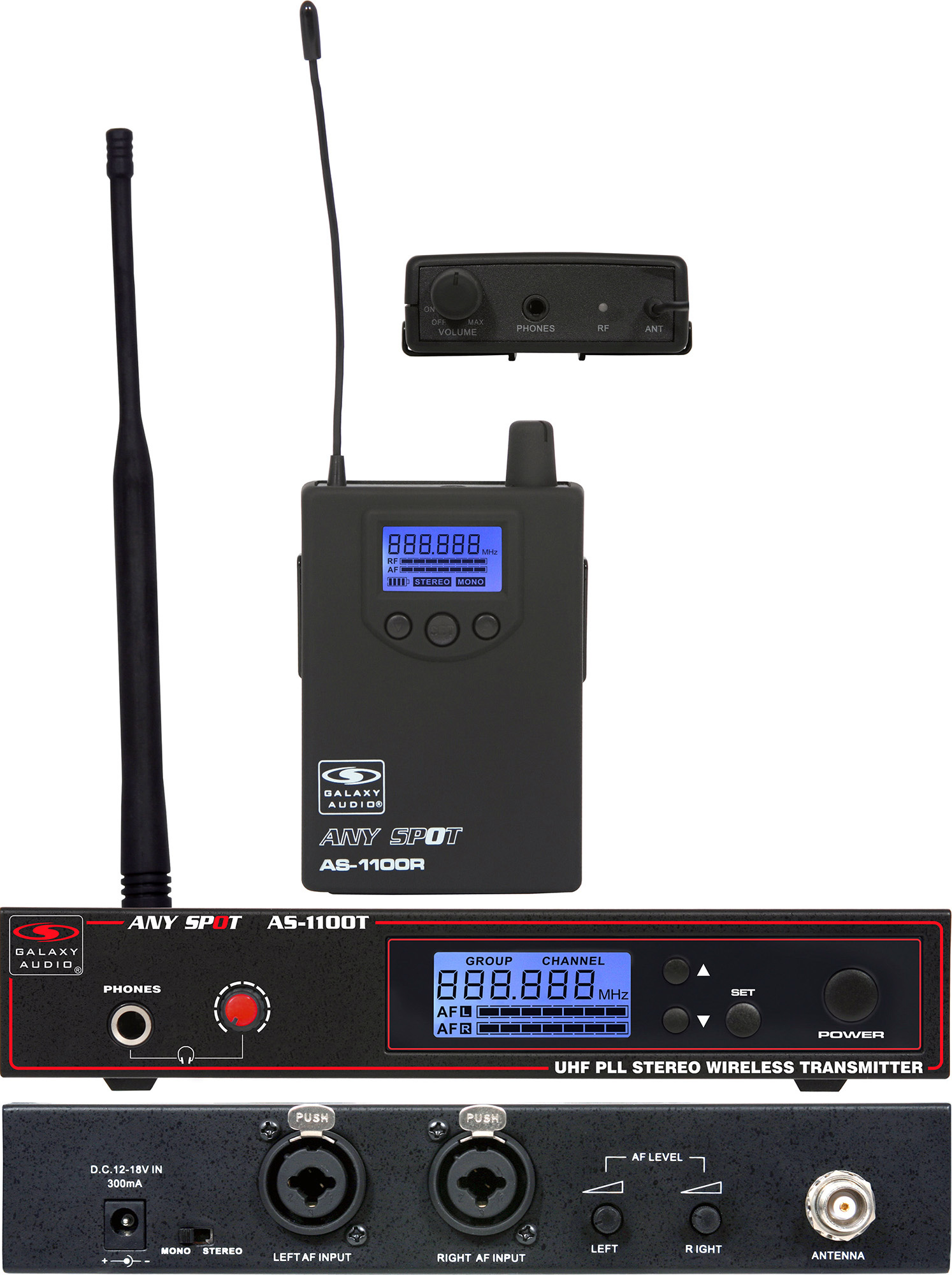 Galaxy Audio AS-1100D Wireless Personal Monitor Freq CODE D