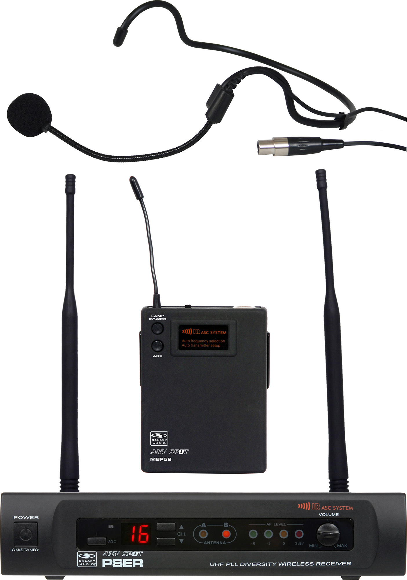 Galaxy Audio PSER/52HSD PSE Headset System Freq CODE D GXY-PSER-52HSD