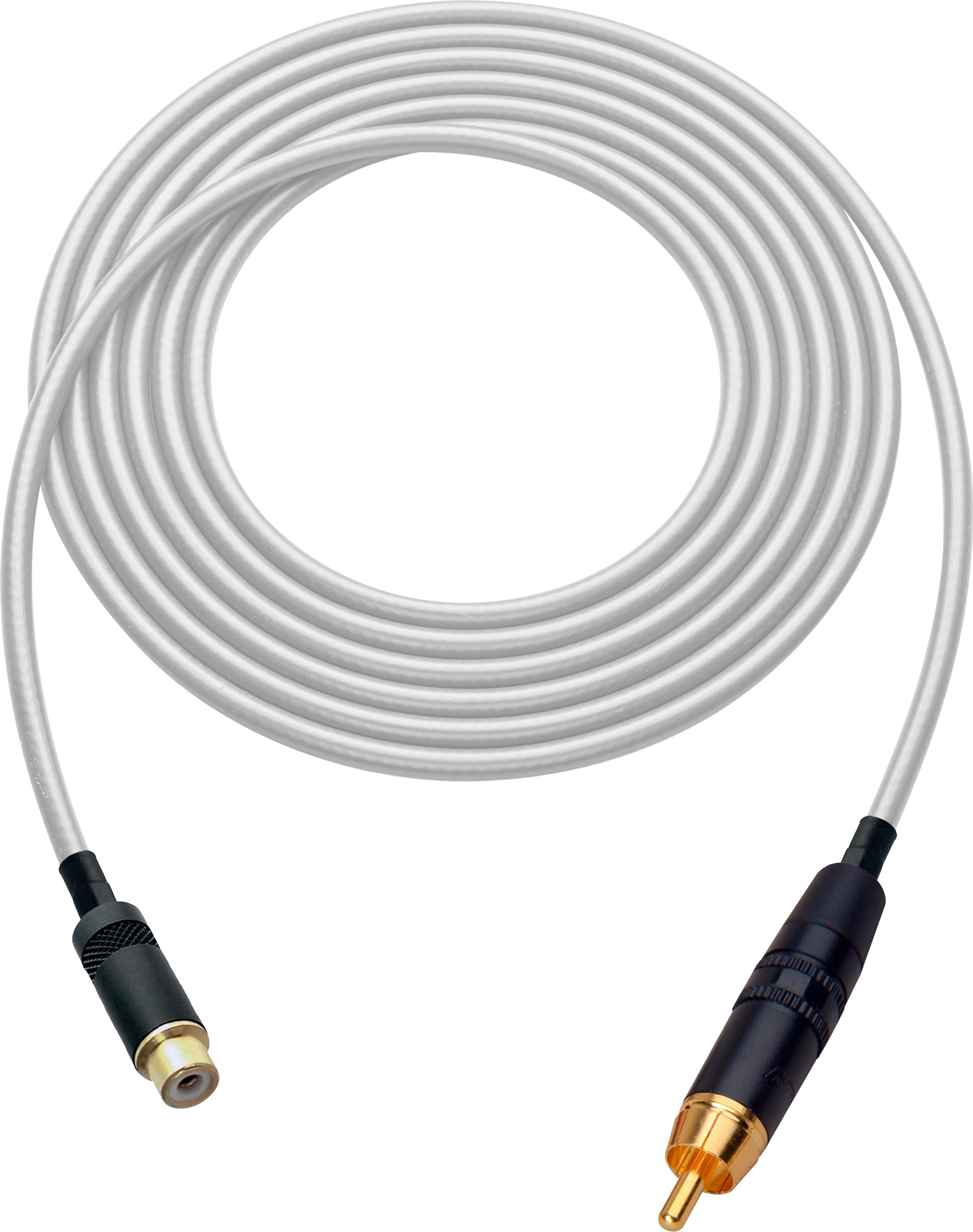 Laird HDAV-EXT-15-WE Belden 1505A RCA M to F Extension Cable For Audio or HD Video - 15 Foot White