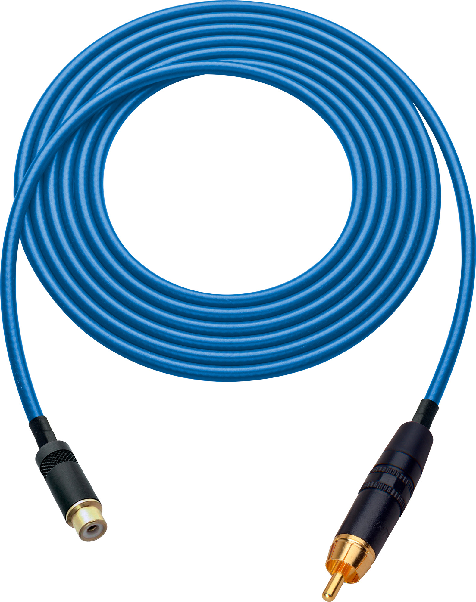 Laird HDAV-EXT-7-BE Belden 1505A RCA M to F Extension Cable For Audio or HD Video - 7 Foot Blue