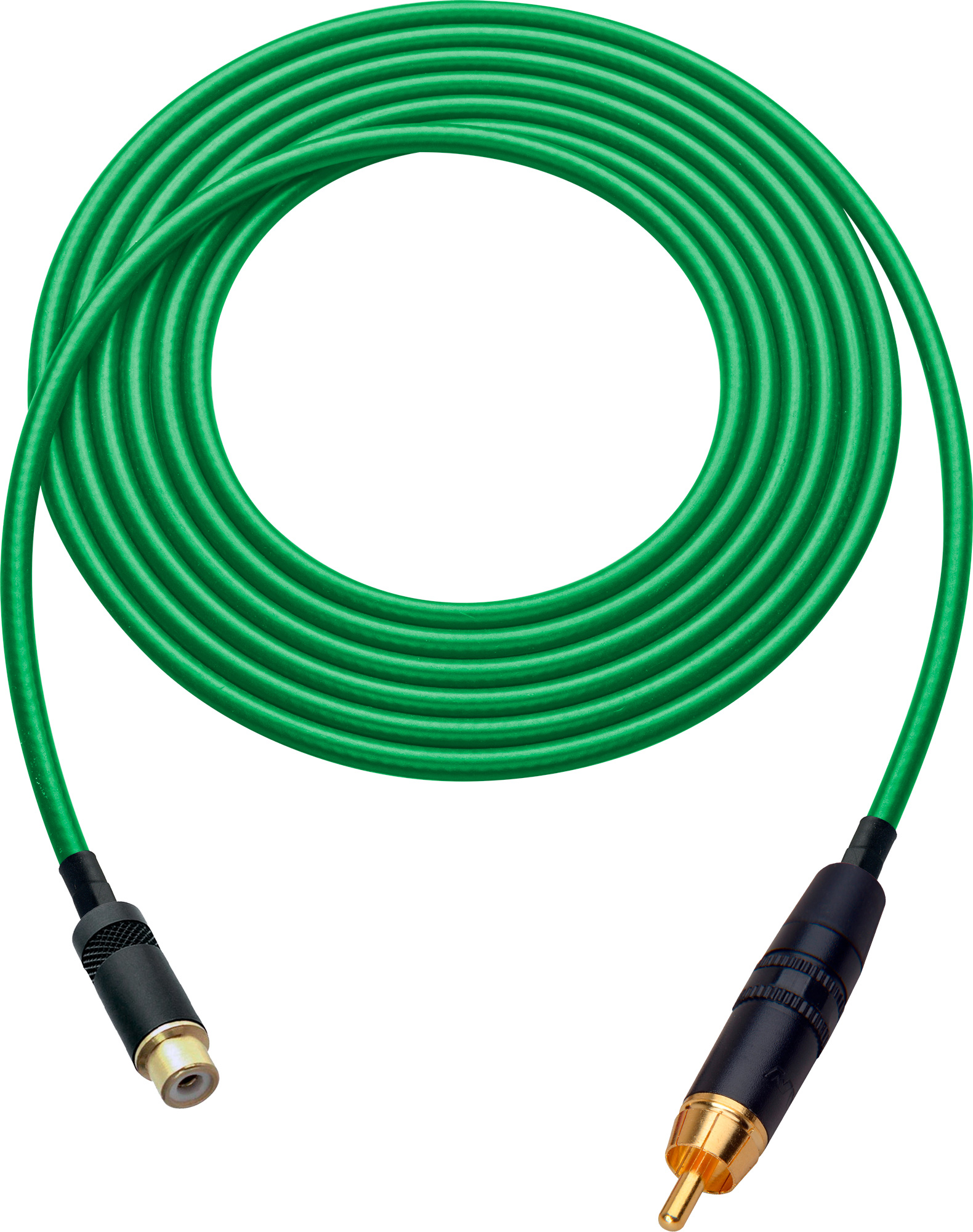 Laird HDAV-EXT-7-GN Belden 1505A RCA M to F Extension Cable For Audio or HD Video - 7 Foot Green