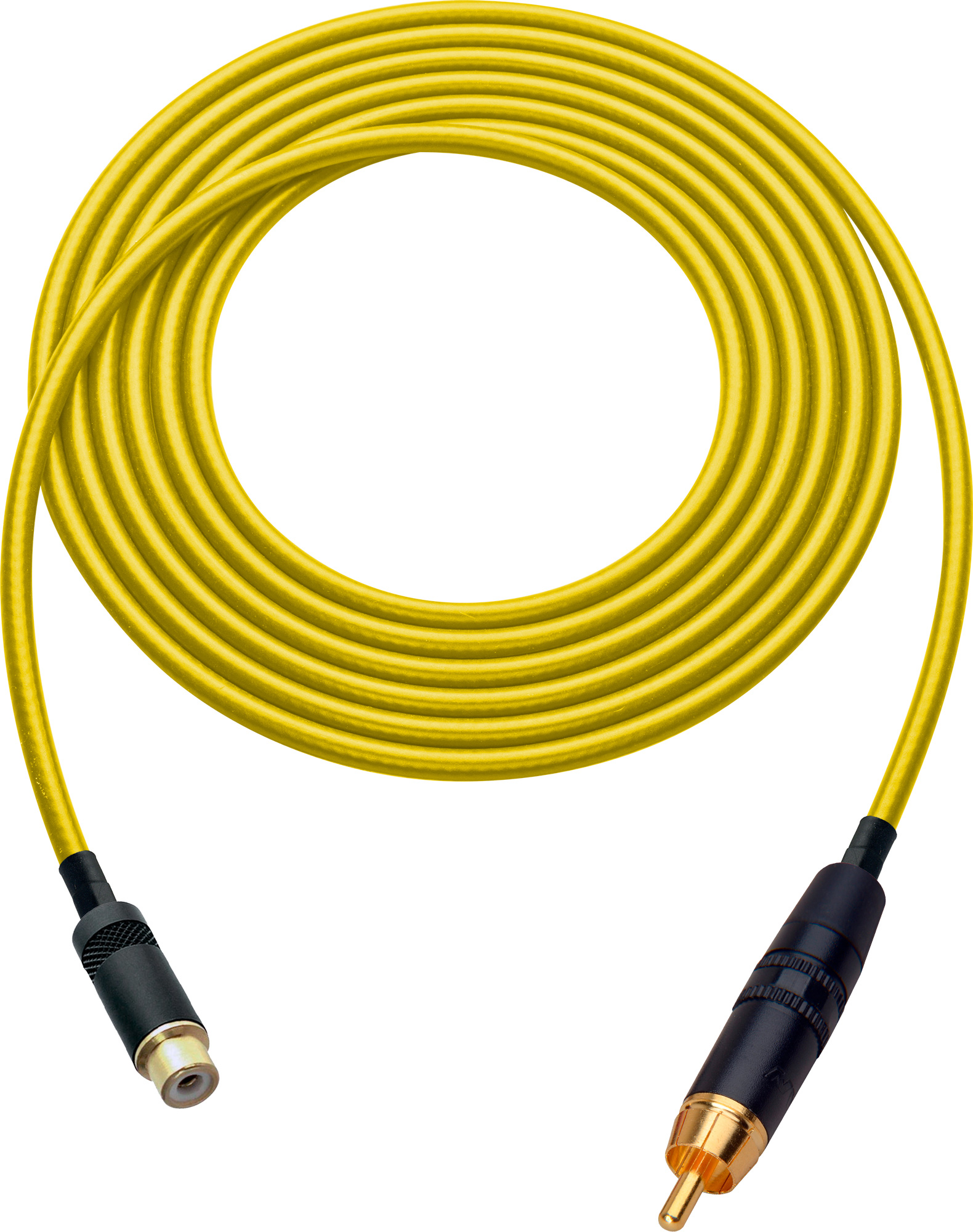 Laird HDAV-EXT-7-YW Belden 1505A RCA M to F Extension Cable For Audio or HD Video - 7 Foot Yellow