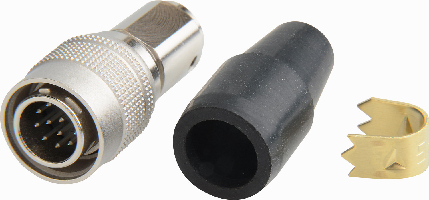 Hirose HR10A10P12P 12-Pin Male Push-Pull Connector with 10mm Male Shel