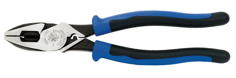 Klein High-Leverage Side-Cutting Pliers - Connector Crimping & Fish Ta