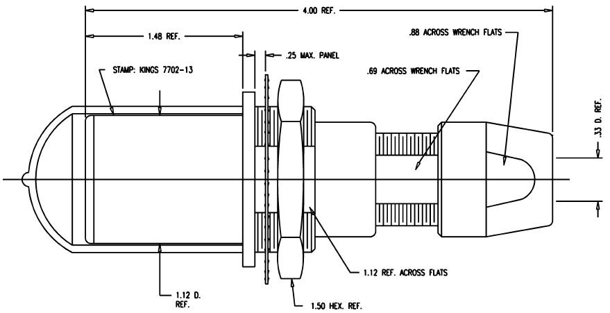 Kings Tri-Loc Jack Bulkhead Connector KC-7702-13