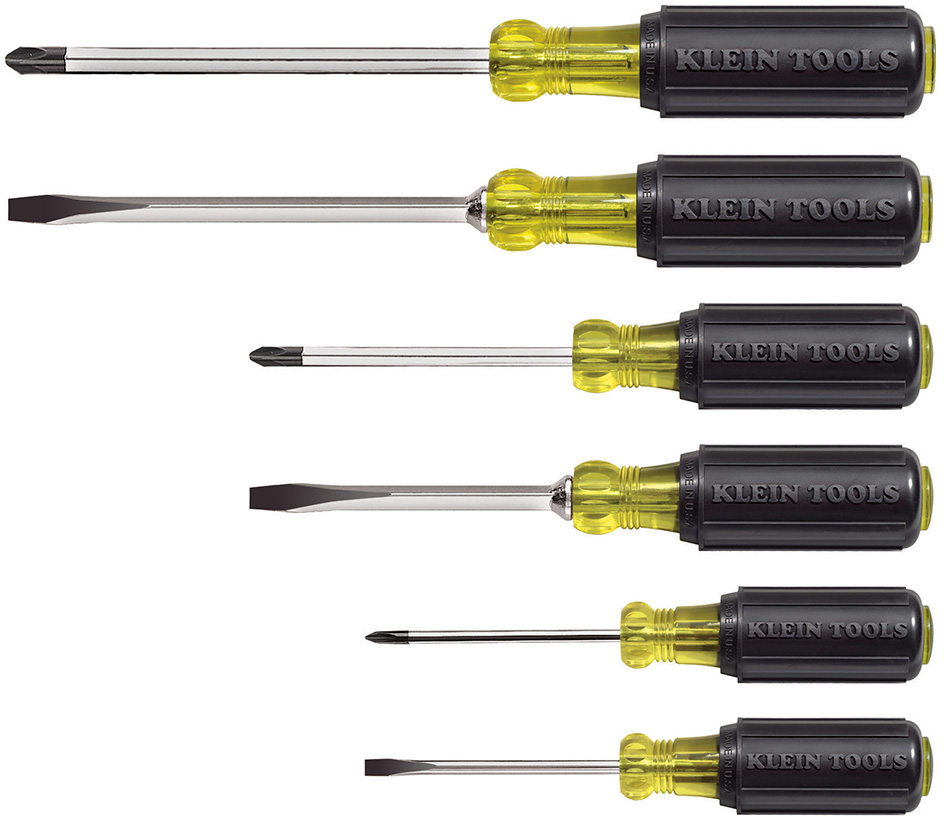 Klein Tools 6pc Cushion-Grip Screwdriver Set KLT-85074