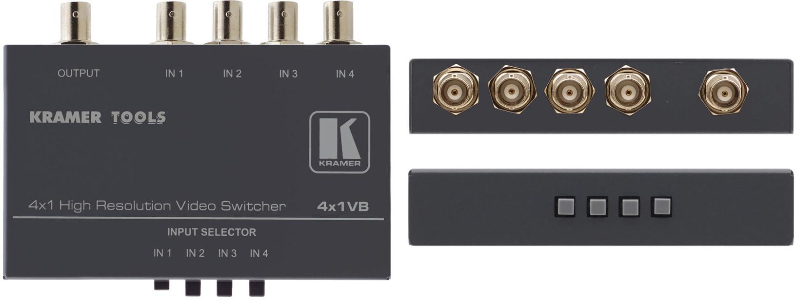 Kramer 4X1VB -- 4x1 Video Switcher w/BNC KR-4X1VB
