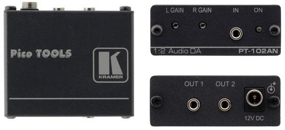 Kramer PT-102AN 1x2 Stereo Audio Distribution Amplifier KR-PT102AN