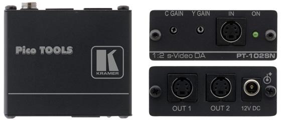 Kramer PT-102SN Pico Tool 1x2 S-Video Distribution Amplifier