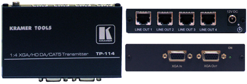 Kramer TP-114 1x4 Computer Graphics Video & HDTV over Twisted Pair Tra