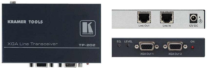 Kramer TP-202 XGA and HDTV over Twisted Pair Branching Receiver