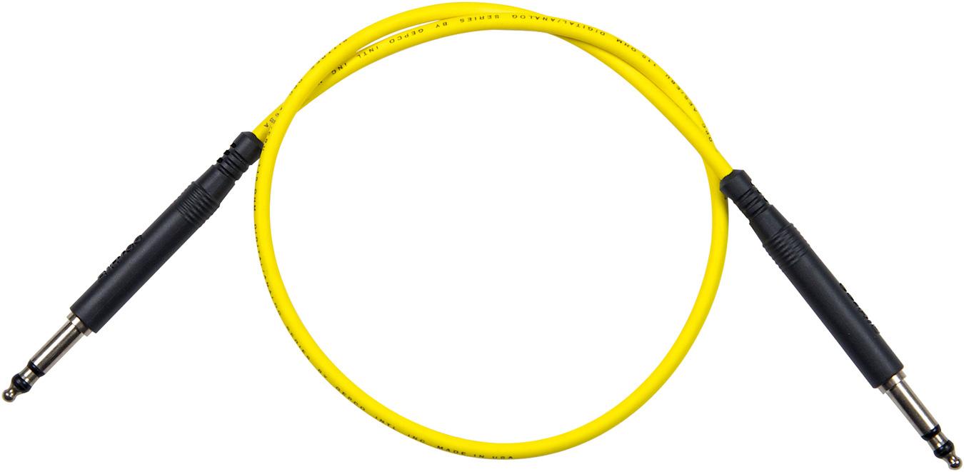 Bittree LPC3604-110 Long Frame Patchcord Nickel 36in - Yellow