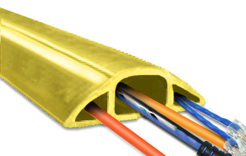 3ft MegaDuct Heavy Duty Cable Cover Yellow Color MD-3YW