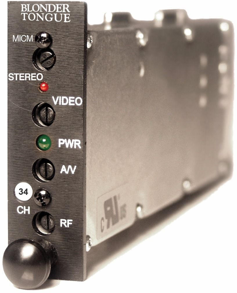 Blonder Tongue MICM-45S Module Sereo AV Modulator 45dB 54-600 MHz Channel 34 MICM-45S-34