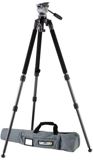 Miller Tripod 1643 System DS-20 w/Solo DV Aluminum Tripod No Carry Str