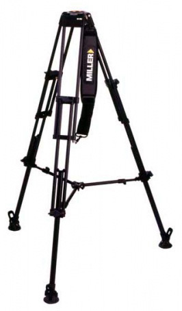 Miller 420 Aluminum DS 2-Stage Tripod With 75mm Bowl Top MIL-420