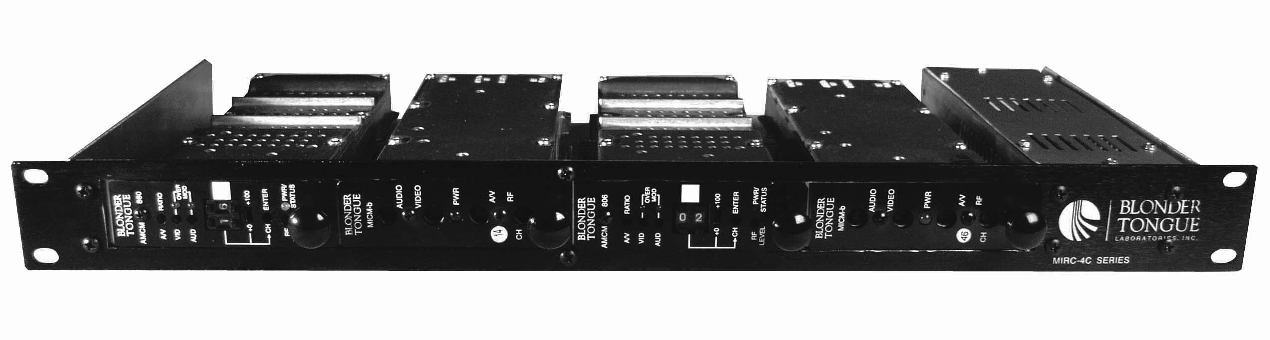 Blonder Tongue HE-4 Series Rack Chassis and Power Supply for 4 Modules
