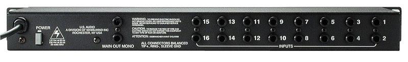 16 Channel Mono Mixer MIX-16