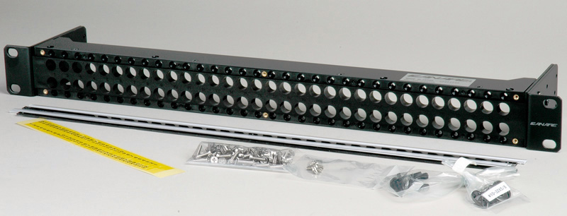 Canare MJ2-M32-2U-BLK 2x32 2 RU Unloaded Patch Panel with Jack Mount S