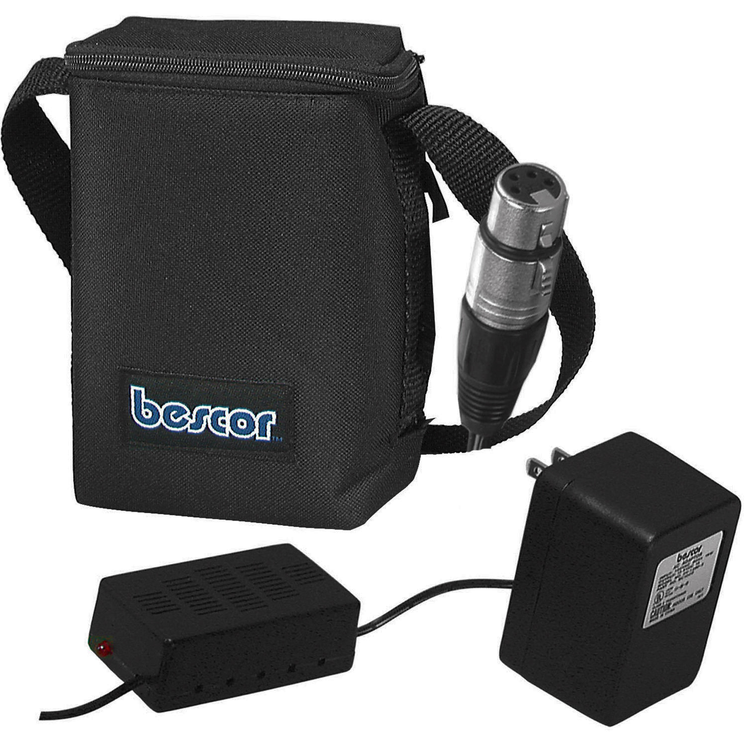 Bescor 12V Batt.Pack w/Auto.Charger and XLR Connector MM-7XLRATM